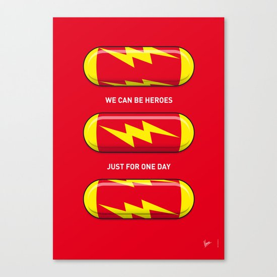 My SUPERHERO PILLS - The Flash Canvas Print
