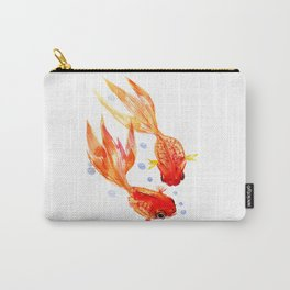 Goldfish Nursery Illustration Feng Shui Two Fish Art Carry-All Pouch