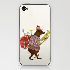 one bear band iPhone & iPod Skin