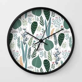Early Spring Thaw In The Flower Garden Pattern Wall Clock