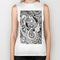 maori Biker Tanks featuring Maori tribal design by Noah's ART