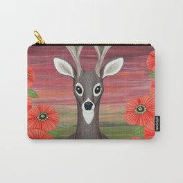 white tailed deer, crows, poppies Carry-All Pouch