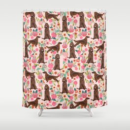 Irish Setter dog breed floral pattern gifts for dog lovers irish setters Shower Curtain