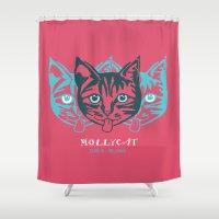 dublin Shower Curtains featuring MOLLYCAT - Dublin - Helsinki by Alan Hogan
