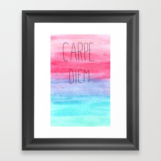 Seize The Day Framed Art Print