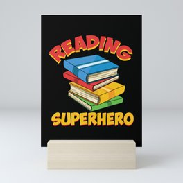 Reading Superhero I Reading Is My Superpower Mini Art Print