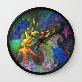 Hestia & The Mermaid PILLOW/SHOWER CURTAIN #B Wall Clock