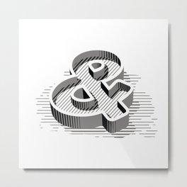 Ampersand 3D Metal Print