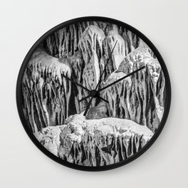 No Snow! But Structures In Dripstone Cave. Wall Clock