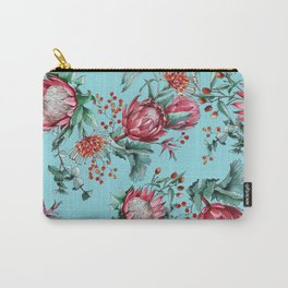 King protea flowers watercolor illustration Carry-All Pouch