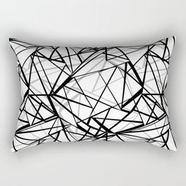 Black and white abstract geometric pattern . Rectangular Pillow