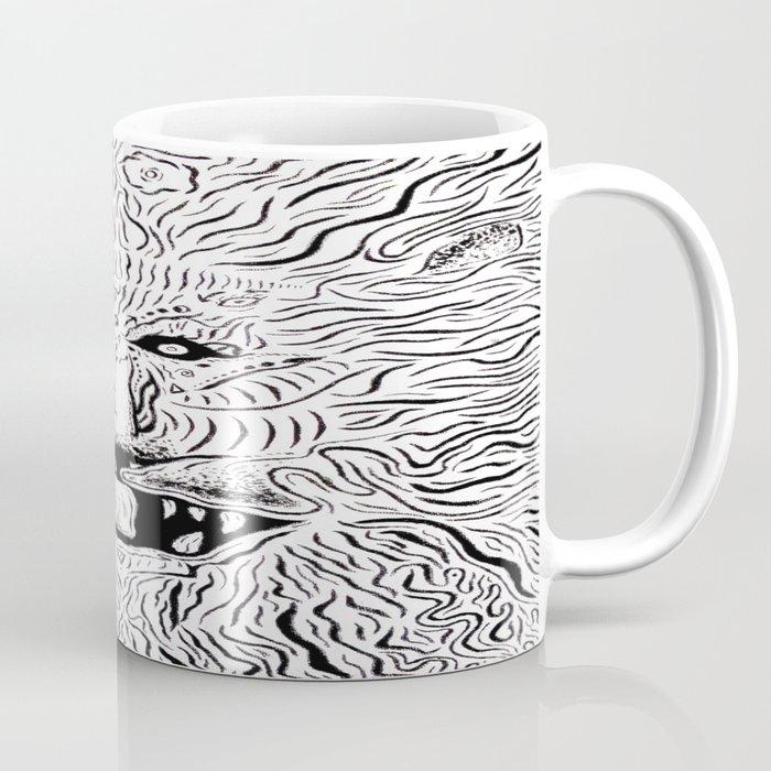 Trippy Lion Mane Painting On Canvas Coffee Mug By Ryanholland Society6
