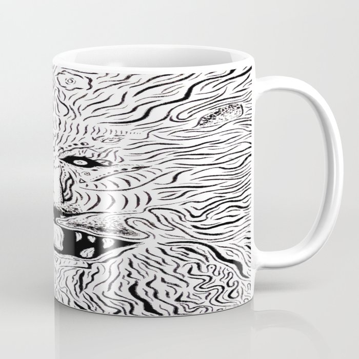 Trippy Lion Mane Painting On Canvas Coffee Mug By Ryanholland Society6