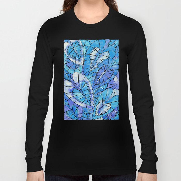 Schismatoglottis Calyptrata – Blue Palette Long Sleeve T-shirt