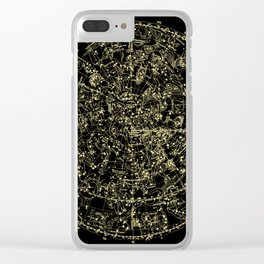 Astro Astronomy Constellations Astrologer Vintage Map Clear iPhone Case
