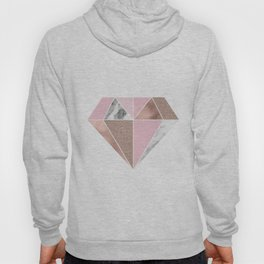 Marble and rose gold tones - diamond Hoody
