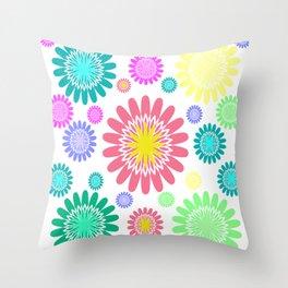 RAINBOW FLOWER Throw Pillow