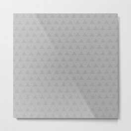 Slate Grey Triangle Small Pattern Design Metal Print