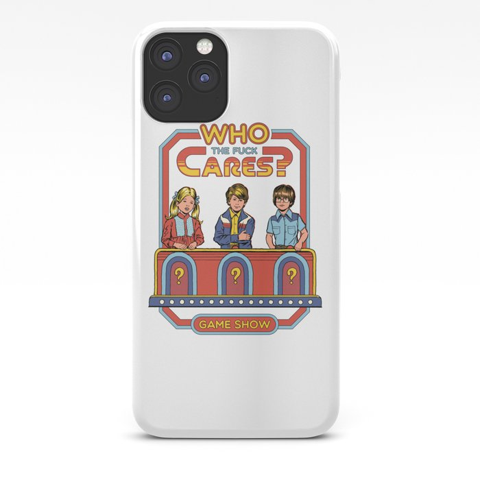 WHO CARES? iPhone Case