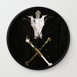 Dragon skull X Wall Clock