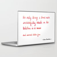 cooking Laptop & iPad Skins featuring Carrie Bradshaw Cooking quote by Caley Ostrander