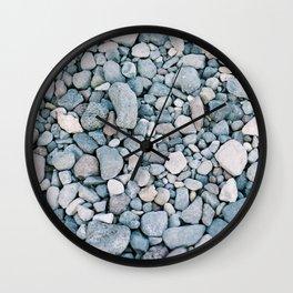 Rocks in Santorini Wall Clock