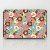 donuts iPad Cases featuring Donuts by Beesants