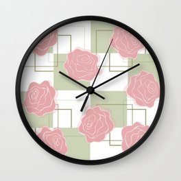 Everything's Coming Up Roses Wall Clock