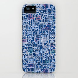 Jodhpur blue maze iPhone Case