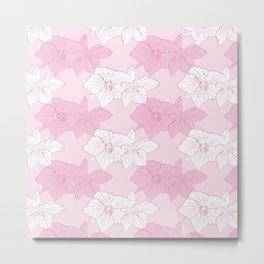 Pink Hellebores Metal Print