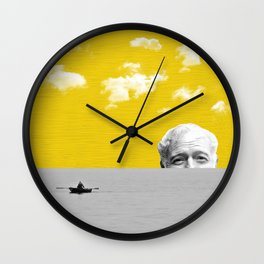 Ernest Hemingway | Old man and the Sea | Digital Collage Art Wall Clock