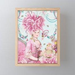 Marie Antoinette Wallflower Framed Mini Art Print