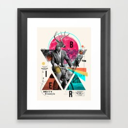 BIKER Framed Art Print