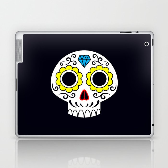 Sugar skull for a cake Laptop & iPad Skin