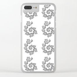 Dancing flowers in black Clear iPhone Case