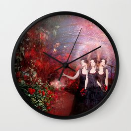 The roses eaters Wall Clock