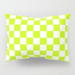Checker (Lime/White) Pillow Sham