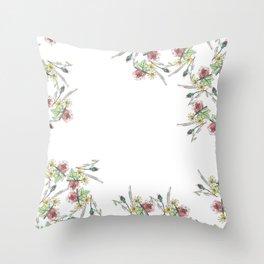 Flower Border Throw Pillow