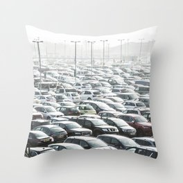 Sea of Cars Throw Pillow