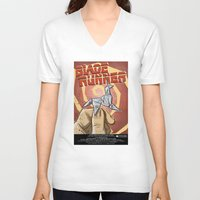 blade runner V-neck T-shirts featuring Blade Runner   by Joe Badon
