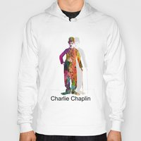 chaplin Hoodies featuring charlie chaplin by mark ashkenazi