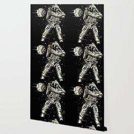 Space Baseball Astronaut Wallpaper