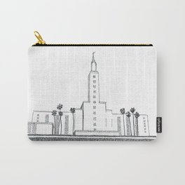 Los Angeles LDS Temple Ink Drawing Carry-All Pouch