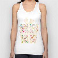 gift card Tank Tops featuring Christmas Gift 01 by BlueLela