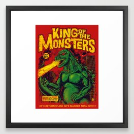 King Of The Monsters Framed Art Print