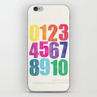 numbers iPhone & iPod Skins featuring Numbers by Laura Flowerday (PaperCrane)
