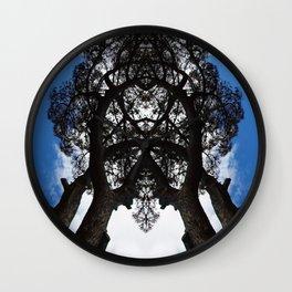 Leaning Tree Wall Clock