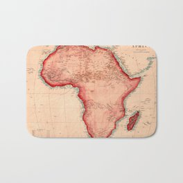 Map Of Africa 1844 Bath Mat