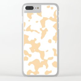 Large Spots - White and Sunset Orange Clear iPhone Case