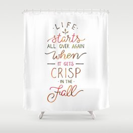 Crisp in the Fall - The Great Gatsby quote Shower Curtain